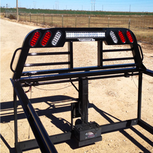 Outlaw Edition Headache Rack (with Grab Handles, LED Lights, Light Bar) - Tumbleweed MFG
