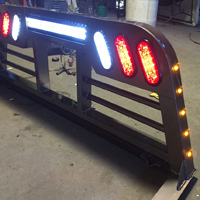 Outlaw Edition Headache Rack (with Amber LED Clearance Lights) - Tumbleweed MFG