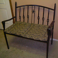 Ornamental Iron Bench - Furniture #10 | Tumbleweed-Mfg | Amarillo, TX