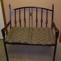 Ornamental Iron Bench - Furniture #11 | Tumbleweed-Mfg | Amarillo, TX