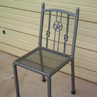 Ornamental Iron Chair - Furniture #1 | Tumbleweed-Mfg | Amarillo, TX
