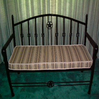 Ornamental Iron Bench - Furniture #4 | Tumbleweed-Mfg | Amarillo, TX