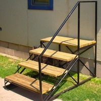 Ornamental Iron Steps - Misc #5 | Tumbleweed-Mfg | Amarillo, TX